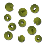 Firehole Slotted Tungsten Beads - Olive