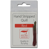 Stripped Peacock Quills - Red