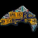Oregon Trout License Plate Art