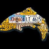 Alaska Trout License Plate Art