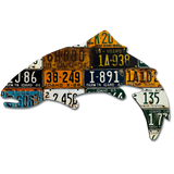 Antique Large Idaho Trout License Plate Art