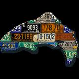Vintage Montana Trout License Plate Art