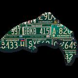 Vermont Trout License Plate Art