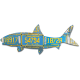 Bahamas Bonefish License Plate Art