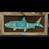 Framed Bonefish License Plate Art