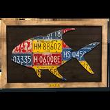 Framed Permit License Plate Art