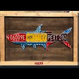 Framed Tarpon License Plate Art