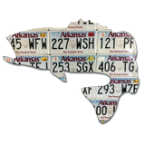 Arkansas Largemouth Bass License Plate Art