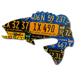 California Largemouth Bass License Plate Art