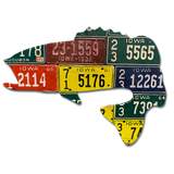 Iowa Largemouth Bass License Plate Art