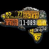 Oklahoma Largemouth Bass License Plate Art