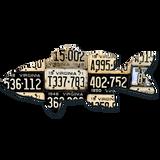 Virginia Smallmouth Bass License Plate Art
