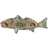 Florida Redfish License Plate Art