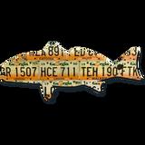 Georgia Redfish License Plate Art