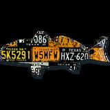 Texas Redfish License Plate Art