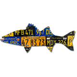 California Striped Bass License Plate Art