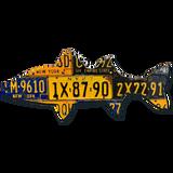New York Striped Bass License Plate Art