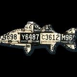 Rhode Island Striped Bass License Plate Art