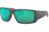 Blackfin Pro Polarized Glass 580 Sunglasses - Matte Black/Green Lightwave Glass