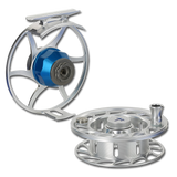 Hatch Iconic Fly Reels - Clear/Blue (Frame & Spool)