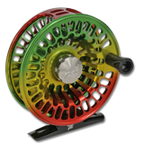 Abel TR Series Fly Reels - Rasta Fade (Front)