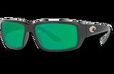 Fantail Polarized Glass 580 Sunglasses - Matte Black/Green Lightwave Glass