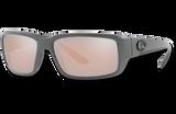 Fantail Polarized Glass 580 Sunglasses - Matte Gray/Copper Silver Lightwave Glass