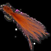 JGF Translucent Wiggle Tail - Burnt Orange #10