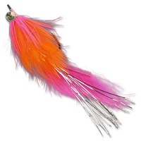 Hareball Leeches - Orange/Pink