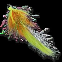 Hareball Leeches - Orange/Chartreuse
