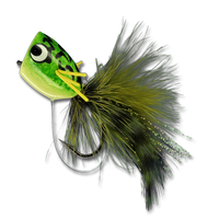 Rubberleg Largemouth Poppers - Kermit #4