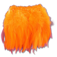 Super Strung Webby Saddle Hackle - Fl. Orange