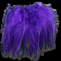 Super Strung Webby Saddle Hackle - Purple