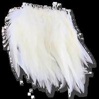 Super Strung Webby Saddle Hackle - White