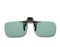 Cocoons Polarized Flip-Ups - Rectangle/Gray