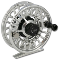 Galvan Grip Fly Reel - Front (clear with black)