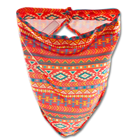 Damsel Fly Fishing Snood - Orange Aztec