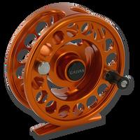 Galvan Rush LT Fly Reel - Burnt Orange (Front)
