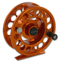 Galvan Rush LT Fly Reel - Burnt Orange (Front)