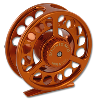 Galvan Rush LT Fly Reel - Burnt Orange (Back)