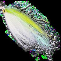 Flashtail Minnow Clouser - Chartreuse & White