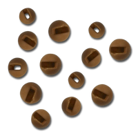 Firehole Slotted Tungsten Beads - Almond Joy