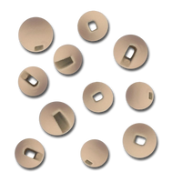 Firehole Slotted Tungsten Beads - Cream Puff