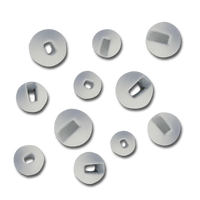 Firehole Slotted Tungsten Beads - White
