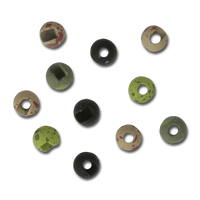 Slotted Mottled Tungsten Beads
