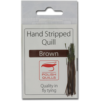 Stripped Peacock Quills - Brown