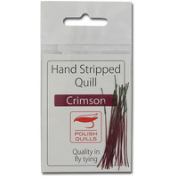 Stripped Peacock Quills - Crimson