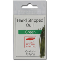 Stripped Peacock Quills - Green