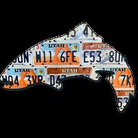 Utah Trout License Plate Art