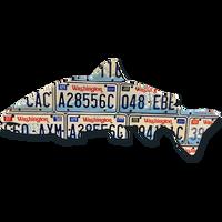 Washington Steelhead License Plate Art